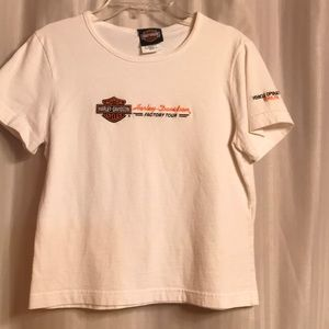 Harley Davidson Women's White Top, Size S